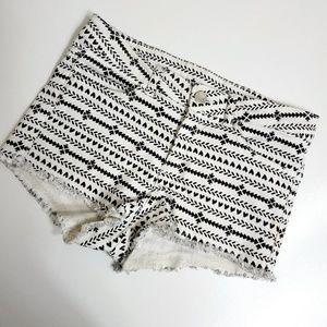 H&M Divided black and white shorts size 6